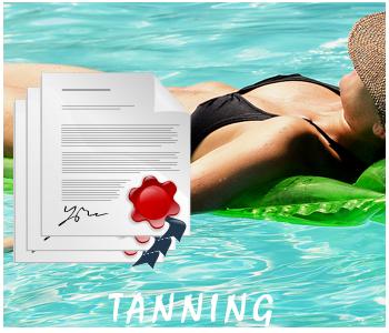 Tanning PLR articles